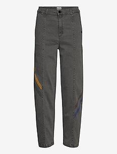 Colored Line Denim - jeans droites - grey