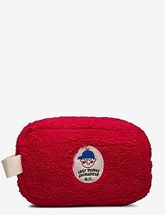 Sheepskin Pouch - meikkilaukku - red