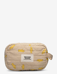Hands All Over Pouch - torby kosmetyczne - brown rice