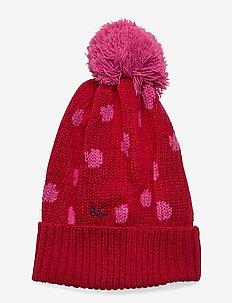 Umbrella Pompon Beanie - mützen - red