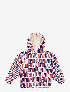 Fun All Over hooded sweatshirt - sweatshirts & hoodies - cream tan