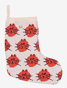 Cat Jacquard fun knitted sock - night & underwear - rose tan