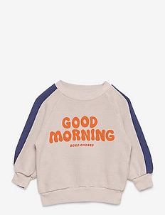 Good Morning sweatshirt - sweatshirts - gray violet