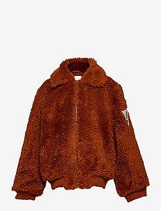 Doggie Patch sheepskin jacket - faux fur - tandoori spice