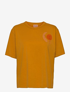 Brown Recycled Cotton Loose T-shirt - t-shirt & tops - inca gold