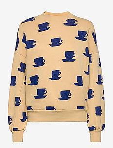 Cup of Tea Print Sweatshirt - sweatshirts & hoodies - soybean