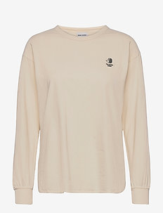 Long Sleeve Recycled Cotton T-shirt - t-shirt & tops - jet stream