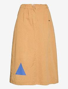 Geometric Print Midi Skirt - midi skirts - apple cinnamon