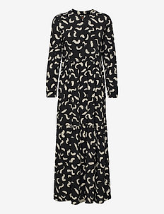 Shapes Print Long Dress - summer dresses - december sky