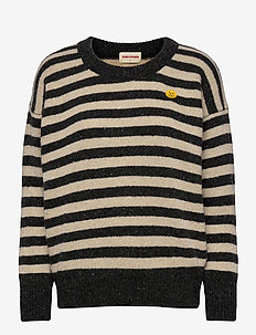 Wool Mix Striped Sweater - jumpers - december sky