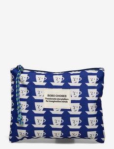 Cup of Tea Print Mini Pouch - portemonnees - twilight blue