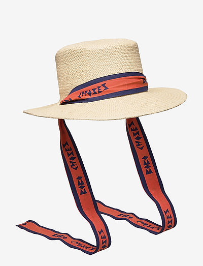 Bobo Choses Straw Hat - stråhatte - turtledove