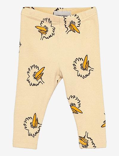 Birdie All Over leggings - leginsy - soybean