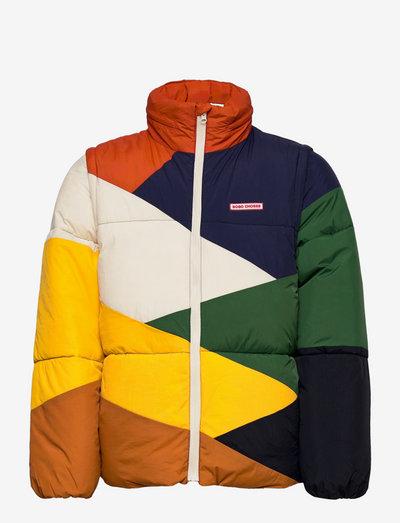 Multi color block padded jacket - wyściełana kurtka - twilight blue