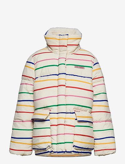 Multicolor Stripes padded jacket - wyściełana kurtka - jet stream