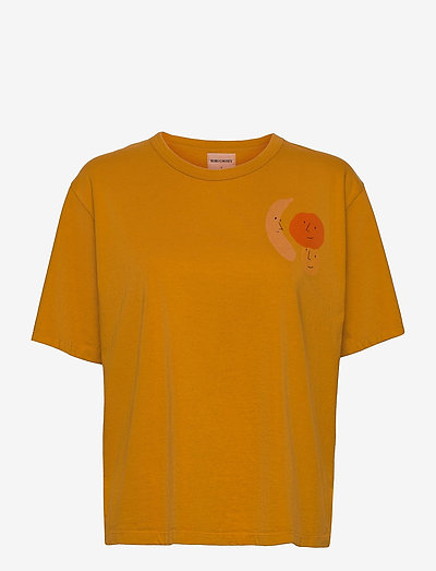 Brown Recycled Cotton Loose T-shirt - t-shirts - inca gold