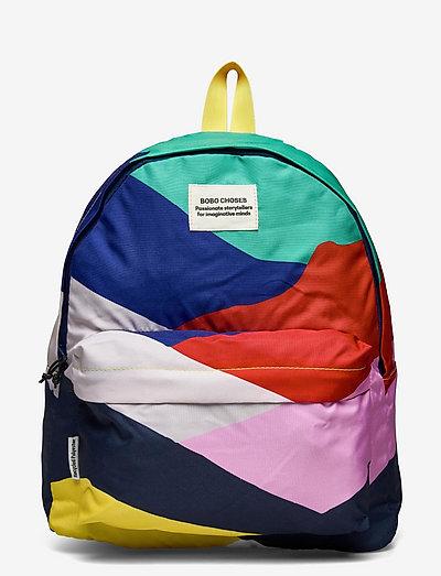 Multi Color Block backpack - rucksäcke - twilight blue