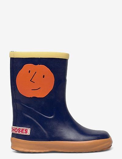 Orange Faces rain boots - rubberlaarzen zonder voering - twilight blue