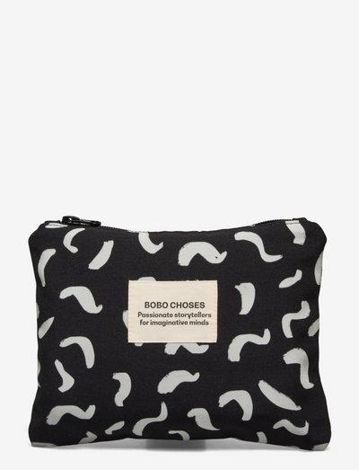Shapes Print Mini Pouch - purses - december sky