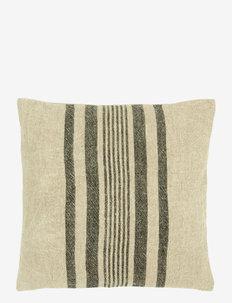 Rough Linen  Cushion cover - putetrekk - black