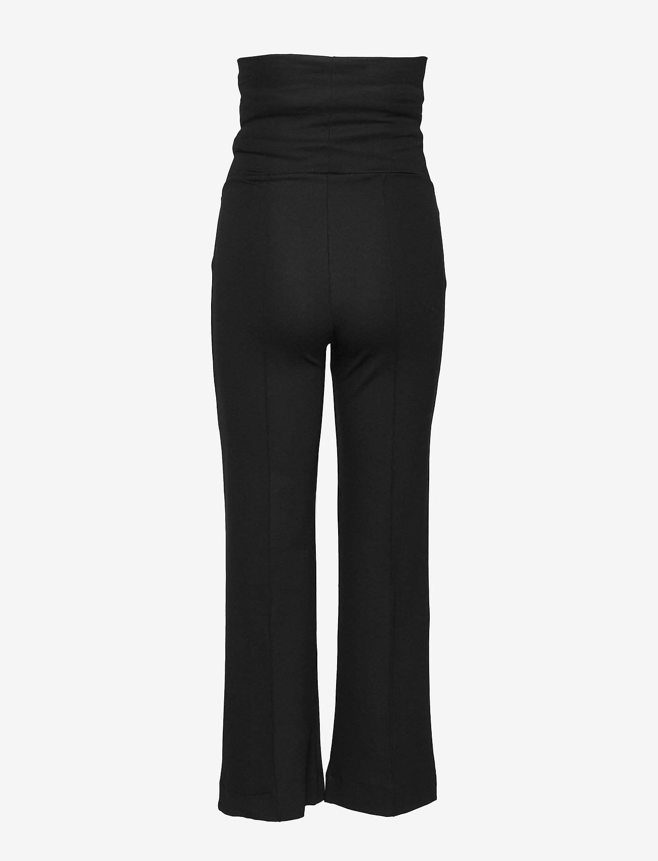 Boob - Once-on-never-off cropped pants - wide leg trousers - black