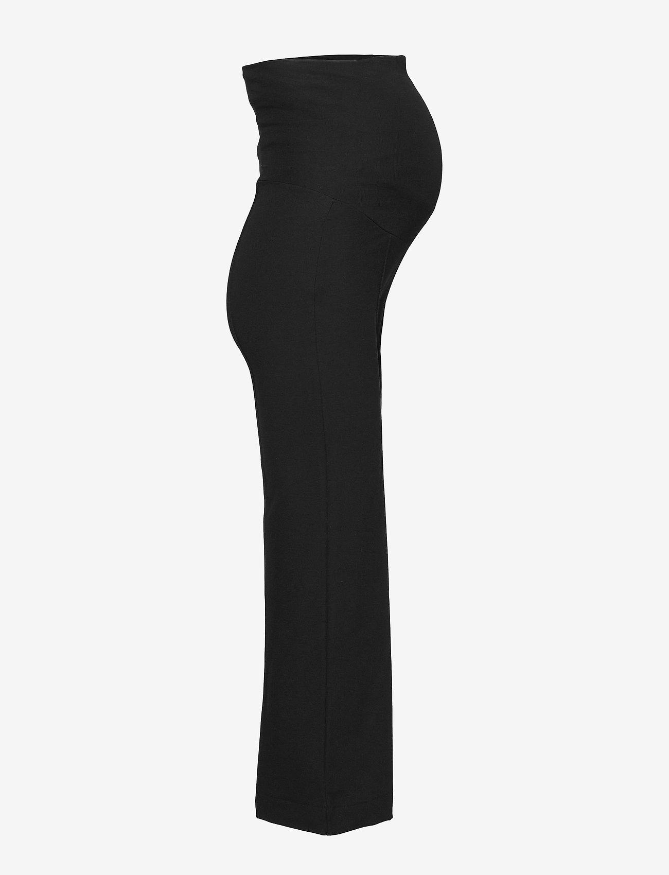 Boob - Once-on-never-off cropped pants - bukser med brede ben - black - 4