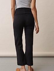 Boob - Once-on-never-off cropped pants - bukser med brede ben - black - 0
