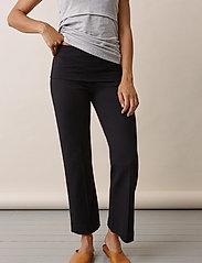 Boob - Once-on-never-off cropped pants - bukser med brede ben - black - 6