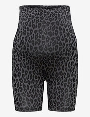 Boob - Once-on-never-off bicycle shorts - cykelshorts - leo print grey/black - 0