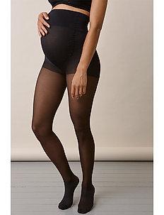 Maternity compression tights - basic - black