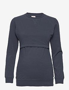B Warmer sweatshirt - sweatshirts - steel blue