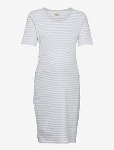 Night dress - natkjoler - white/grey melange
