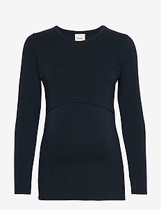 Classic long-sleeved top - MIDNIGHT BLUE