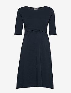 Linnea dress - do kolan & midi sukienki - midnight blue