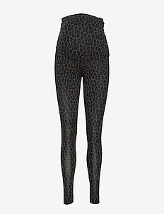 Once-on-never-off leggings - leggings - leo print grey/black