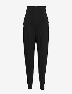 Once-on-never-off easy pants - straight leg trousers - black