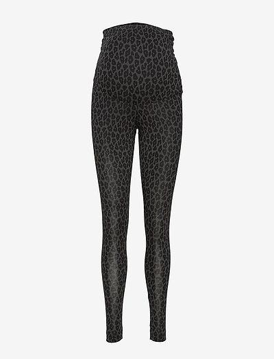 Once-on-never-off leggings - leggings - leo print grey/black