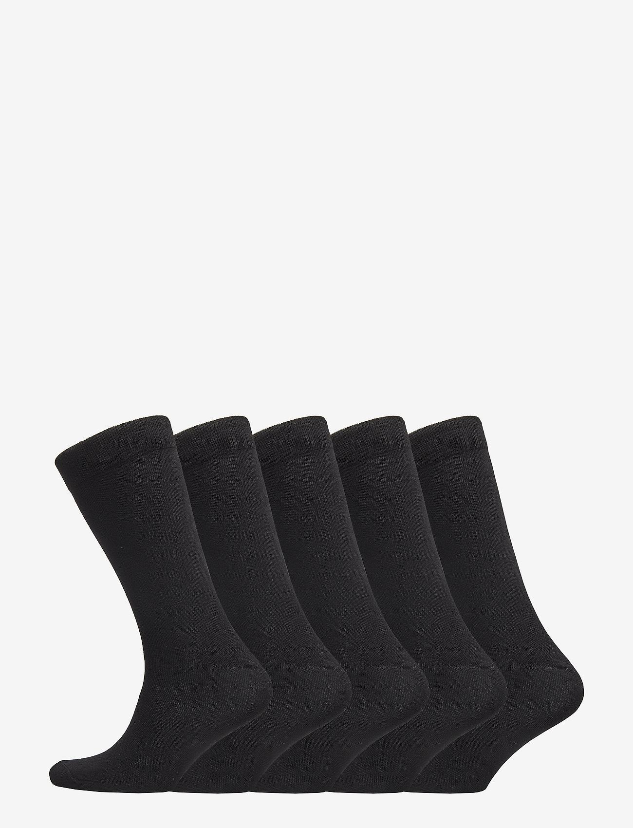 Boozt Merchandise - 5 pack regular sock – Women - socks - black - 0