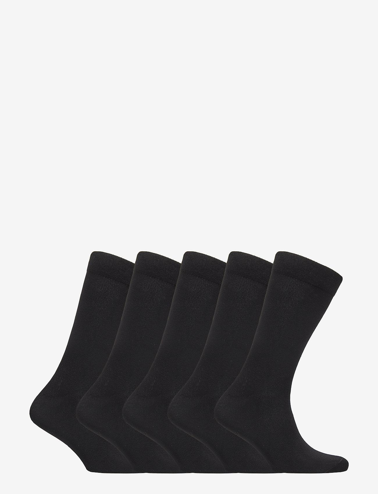 Boozt Merchandise - 5 pack regular sock – Women - socks - black - 1