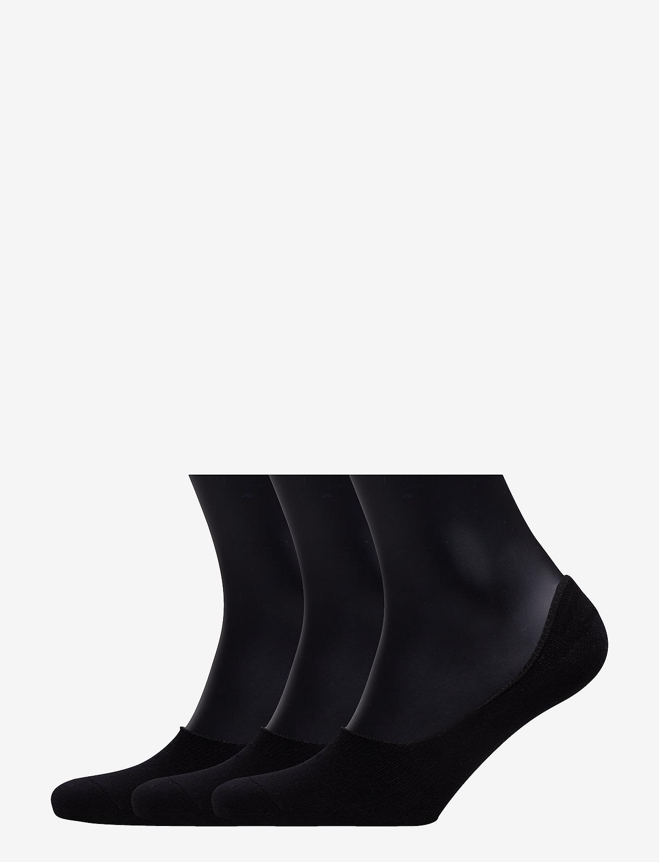 Boozt Merchandise - 3 pack socklets - Women - ankle socks - black - 0