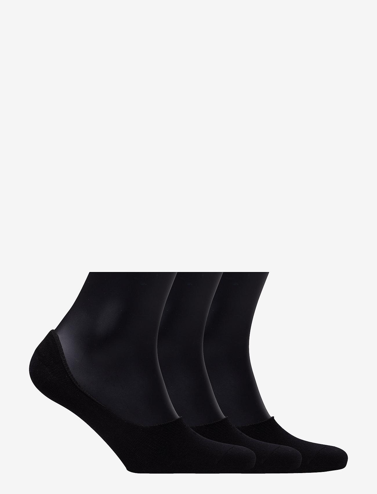 Boozt Merchandise - 3 pack socklets - Women - ankle socks - black - 1