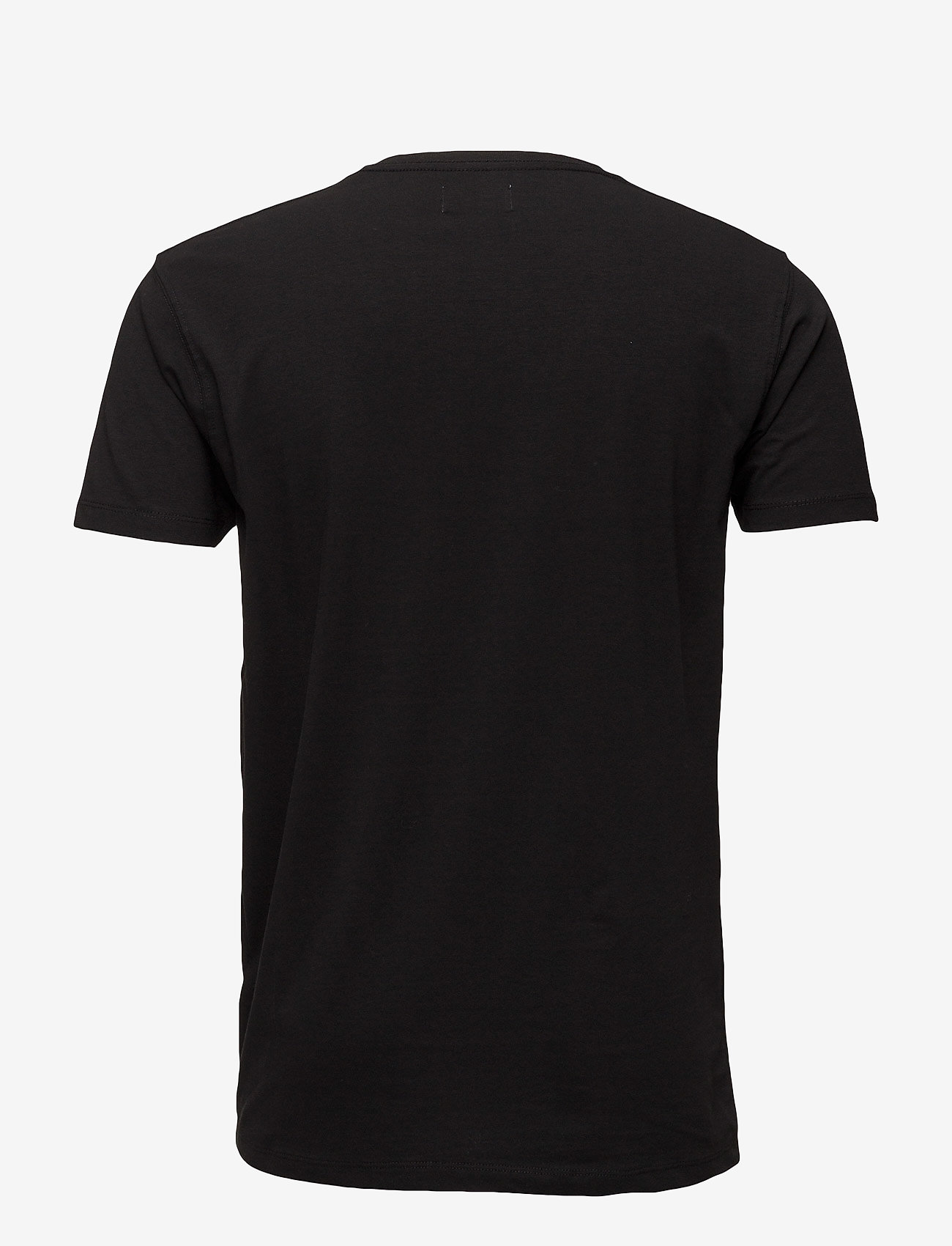 Boozt Merchandise - Mens stretch v-neck tee s/s - short-sleeved t-shirts - black - 1