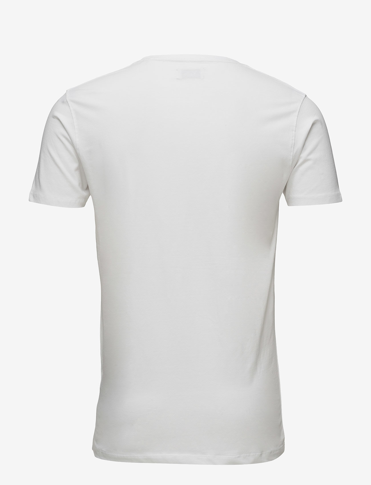 Boozt Merchandise - Mens stretch O-neck tee s/s - short-sleeved t-shirts - white - 1