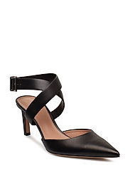 Linda Cross Pump65-C - BLACK