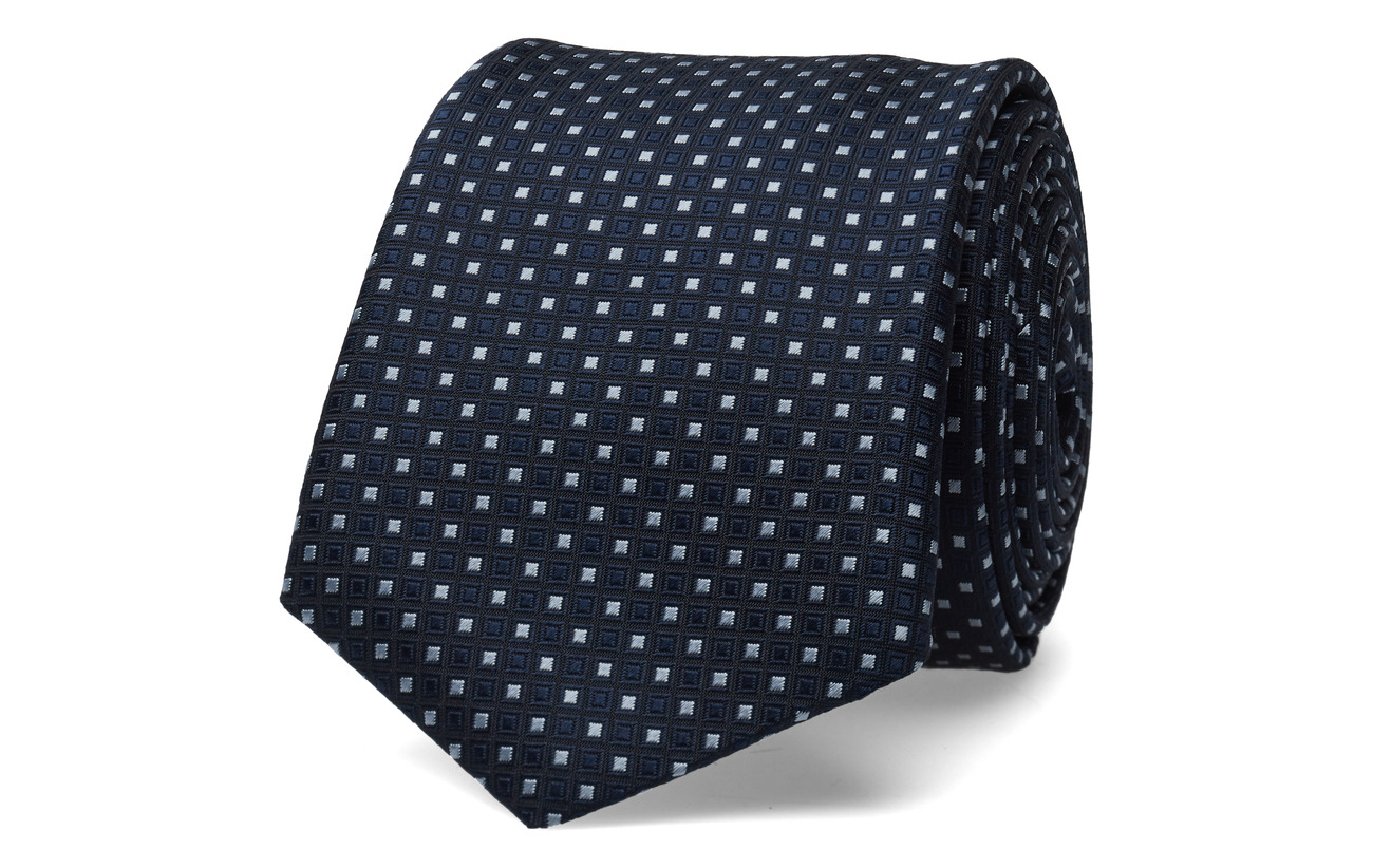 BOSS Business Wear Tie 7,5 cm traveller - DARK BLUE