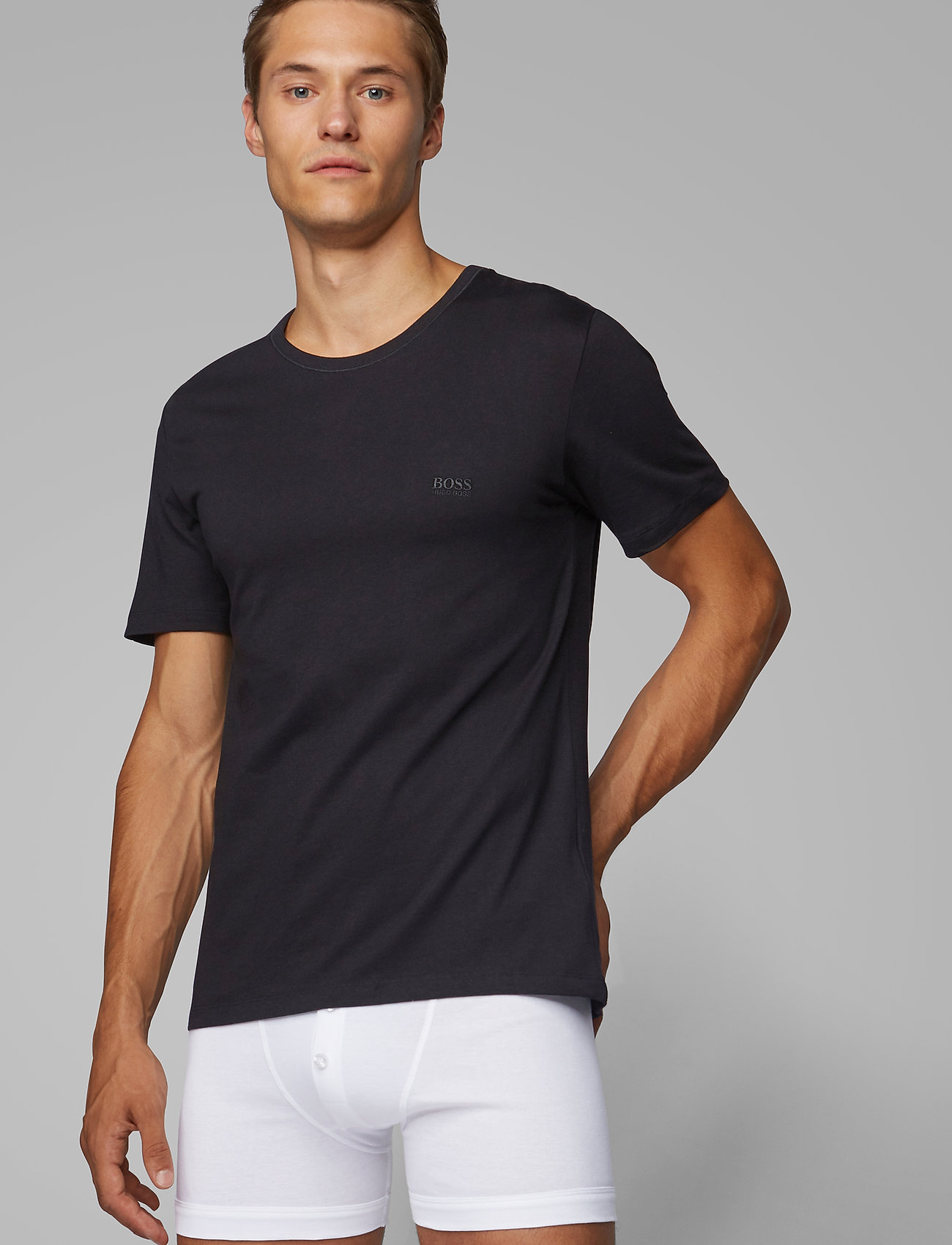 BOSS - T-Shirt RN 3P CO - multipack - black - 0