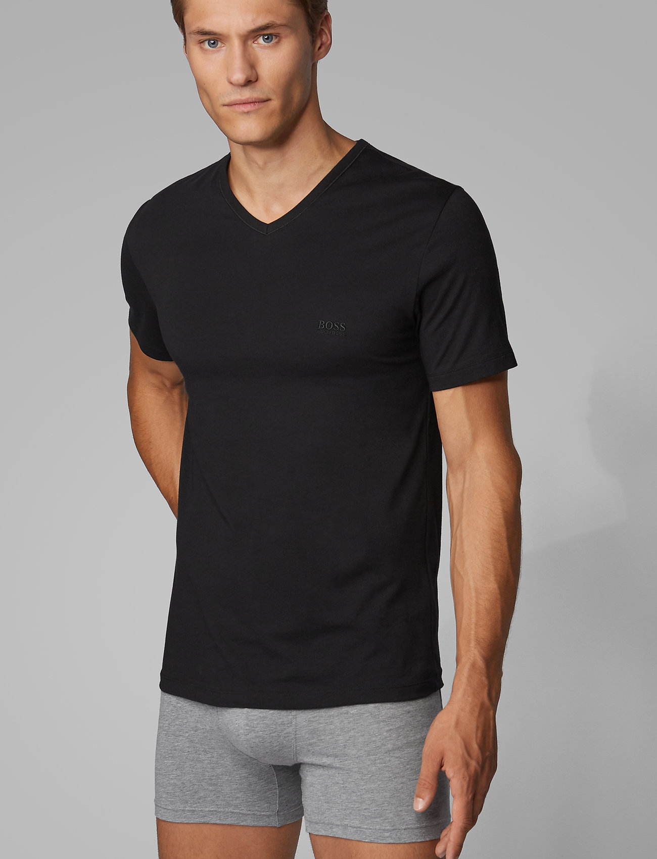 BOSS - T-Shirt VN 3P CO - basic t-shirts - black - 0