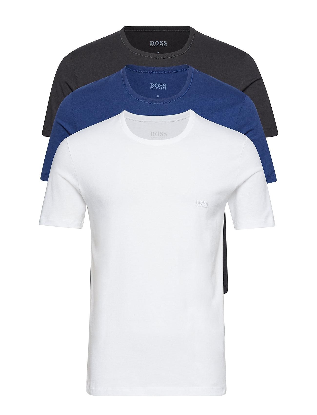BOSS Business T-Shirt RN 3P CO - OPEN BLUE