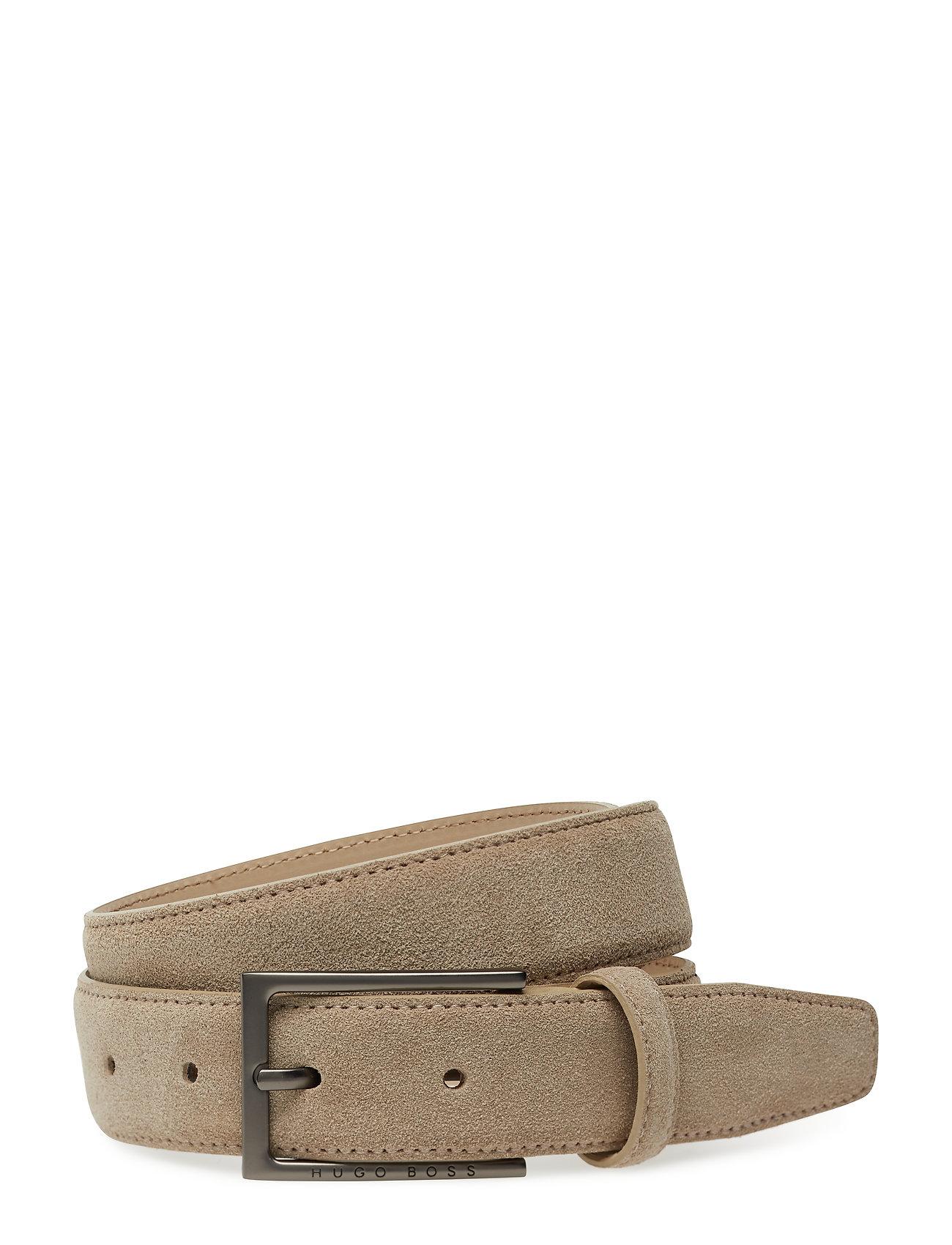 Cedys-Sd_sz30 Accessories Belts Classic Belts Beige BOSS BUSINESS WEAR