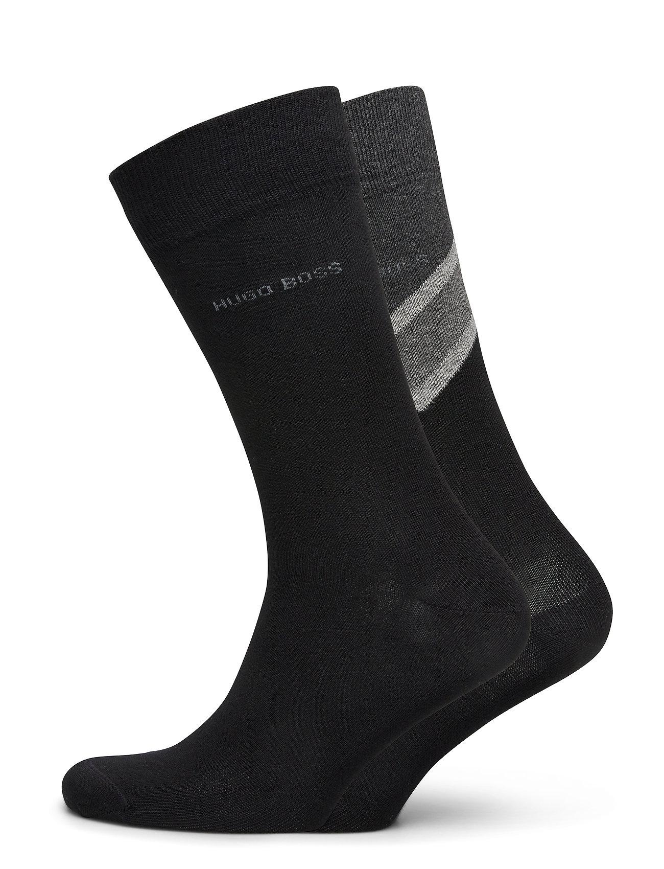 Image of 2p Rschevronstripecc Underwear Socks Regular Socks Sort BOSS (3439674977)